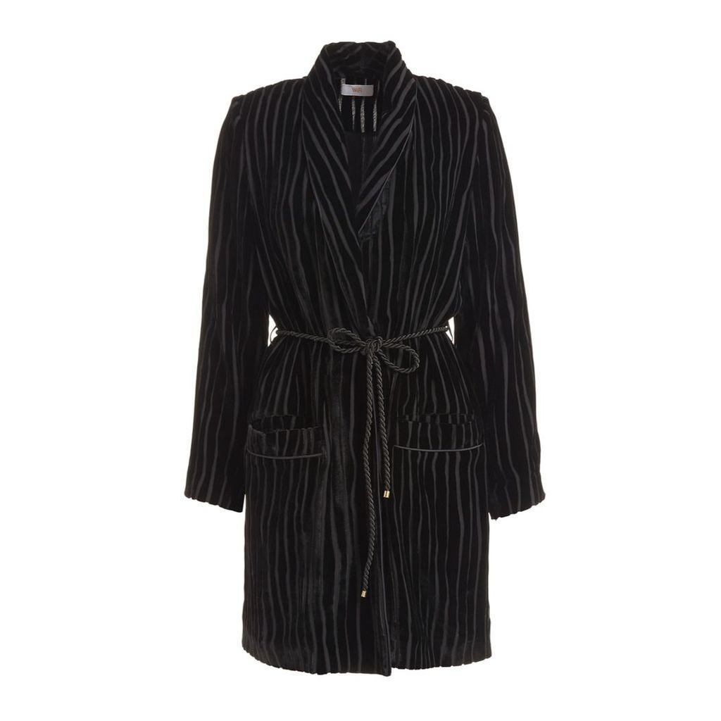 WtR - Serrano Black Velvet Wrap Jacket