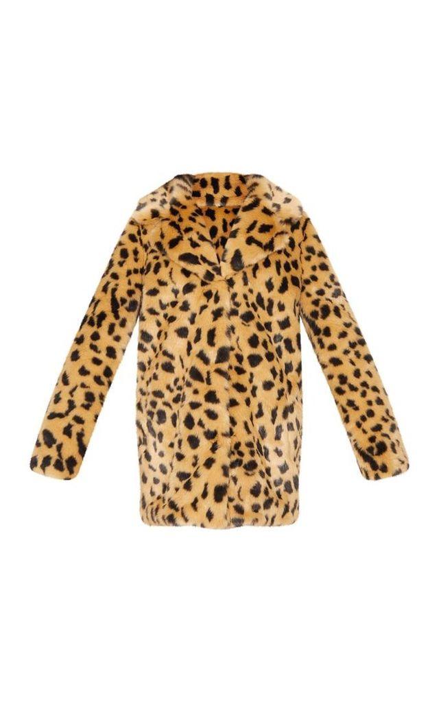 Leopard Faux Fur Coat, Animal