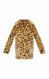 Leopard Faux Fur Coat, Animal