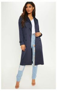 Tall Navy Oversized Longline Coat, Blue