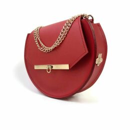 Angela Valentine Handbags - Loel Crossbody Circle Bag In Saffron Red