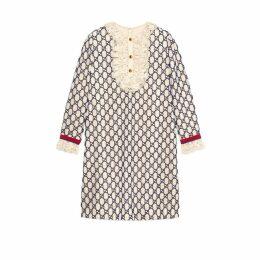 Short GG macramé dress