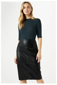 Womens Jigsaw Black Pencil Skirt -  Black