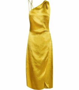 Reiss Positano - Strappy Cocktail Dress in Gold, Womens, Size 16