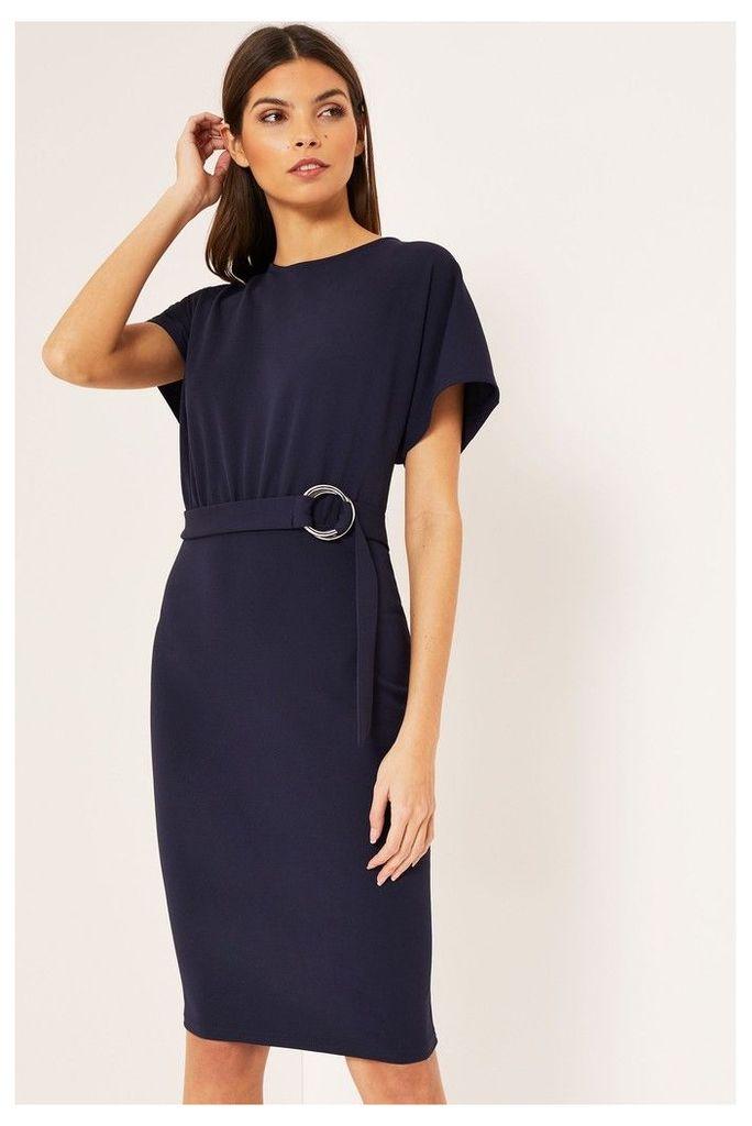 Lipsy D Ring Bodycon Dress - 14 - Blue
