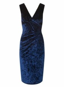Womens **Scarlett B Navy 'Megan' Bodycon Dress- Blue, Blue