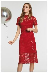 Womens Next Red Lace Dress -  Red