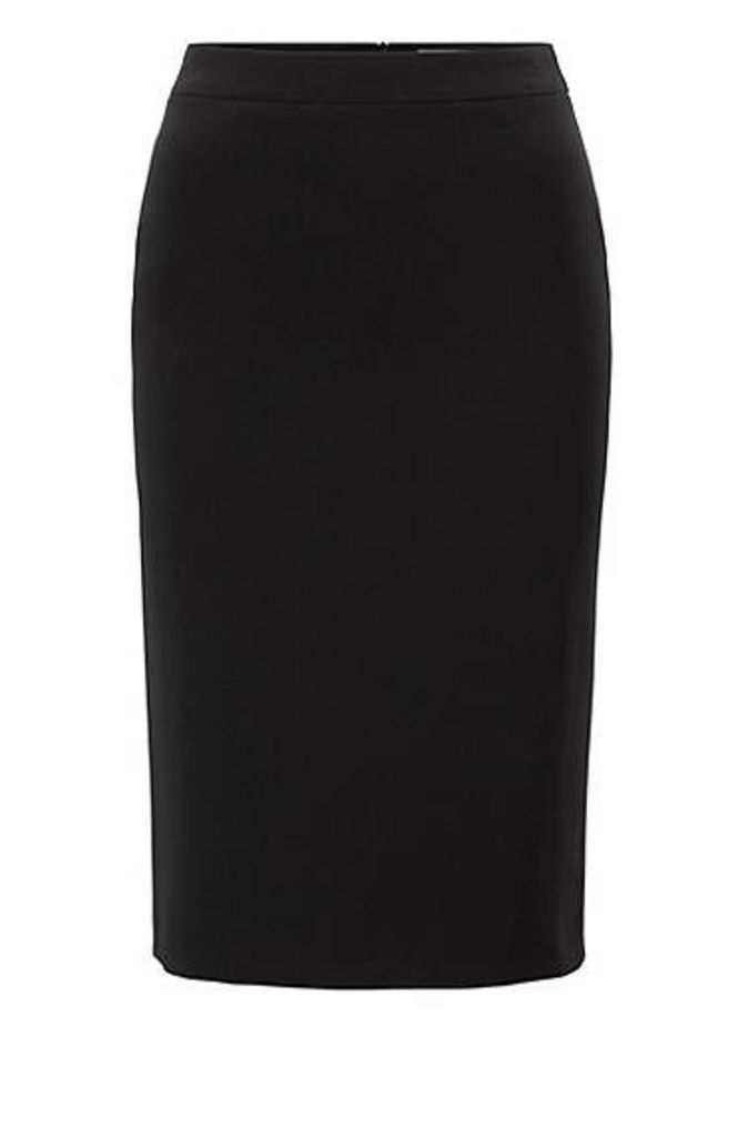 Pencil skirt in crease-resistant Japanese crepe