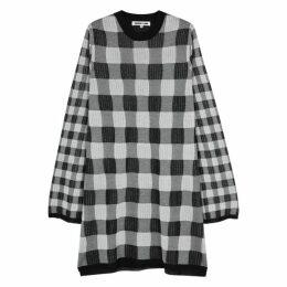 McQ Alexander McQueen Checked Monochrome Knitted Dress