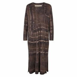 RAQUEL ALLEGRA Mushroom Tie-dye Cotton-blend Dress