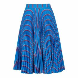 Calvin Klein 205W39NYC Blue Striped Pleated Skirt