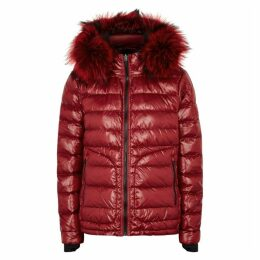 49WINTERS The Tailored Down Fur-trimmed Shell Jacket