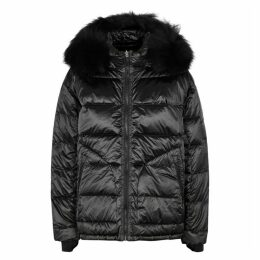 49WINTERS The Boxy Down Fur-trimmed Shell Jacket