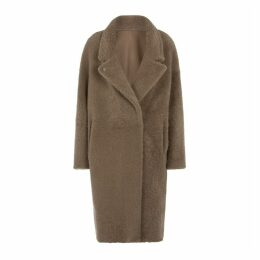 Gushlow & Cole Notch Collar Shearling Over Coat