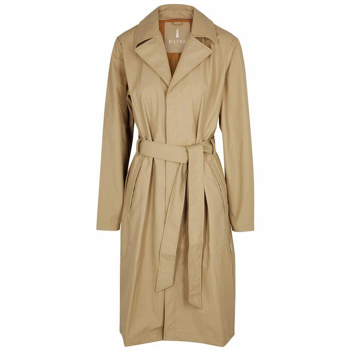 Rains Overcoat Ecru Rubberised Raincoat