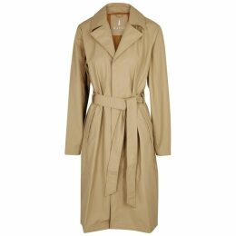 Rains Overcoat Ecru Rubberised Raincoat
