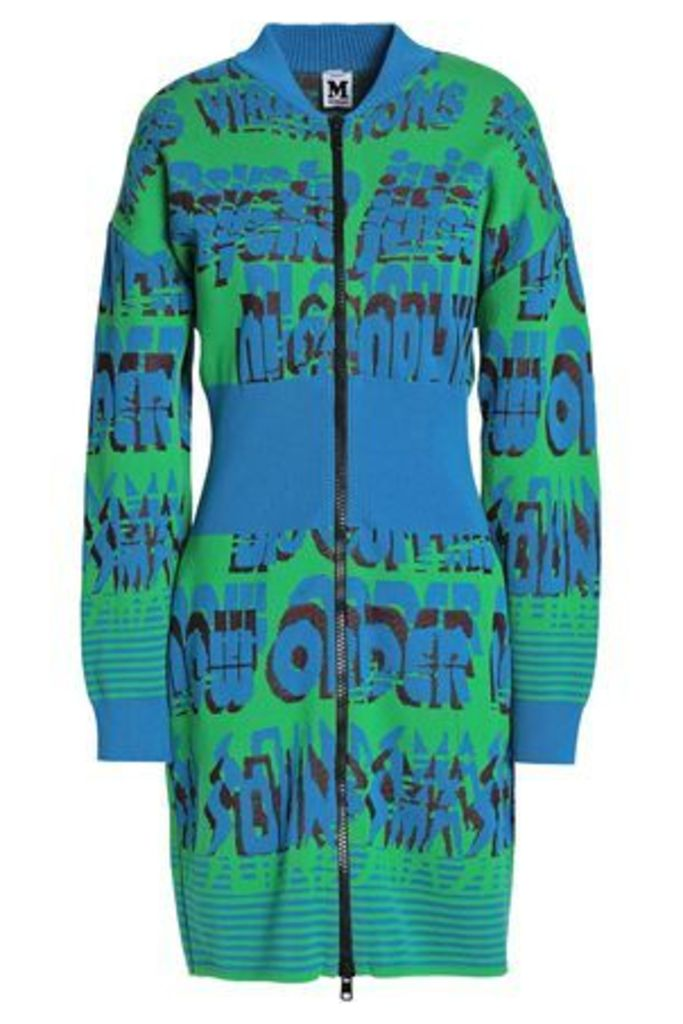 M Missoni Woman Cotton-blend Jacquard Jacket Blue Size M