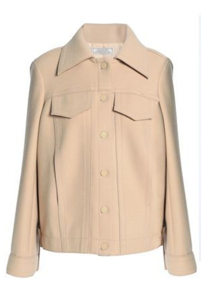 Nina Ricci Woman Brushed Stretch-wool Jacket Sand Size 42