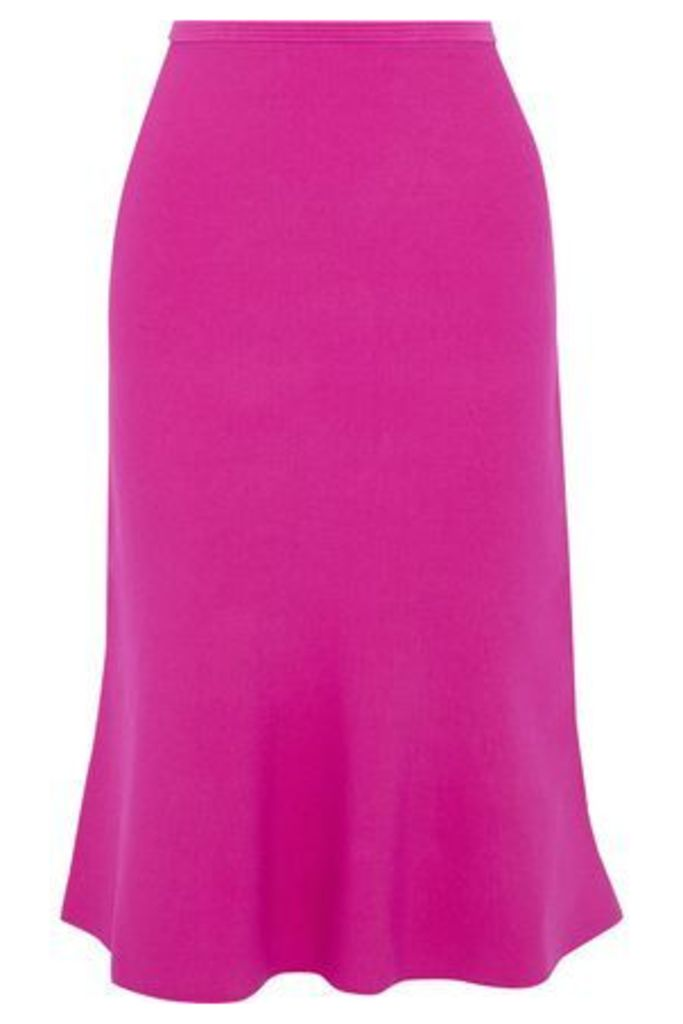 Diane Von Furstenberg Woman Fluted Stretch-knit Skirt Magenta Size XS