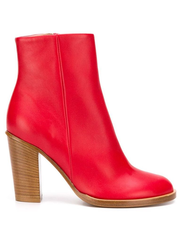 Ports 1961 zipped ankle boots - Red