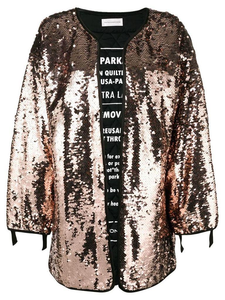 Faith Connexion sequin cape coat - Neutrals