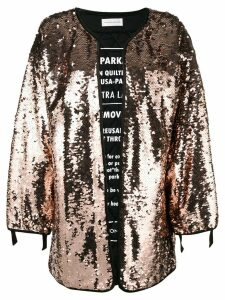 Faith Connexion sequin cape coat - Neutrals
