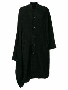 Yohji Yamamoto oversized cape coat - Black
