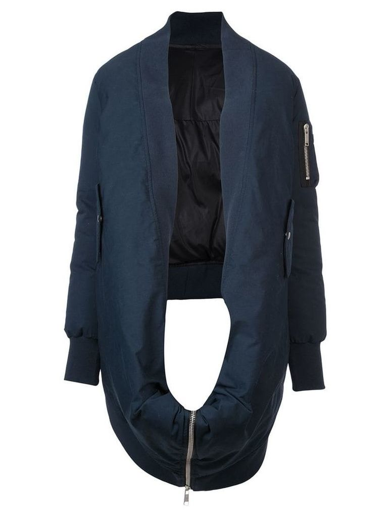 Unravel Project Tela bomber cape - Blue