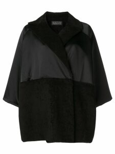 Gianluca Capannolo oversized draped coat - Black