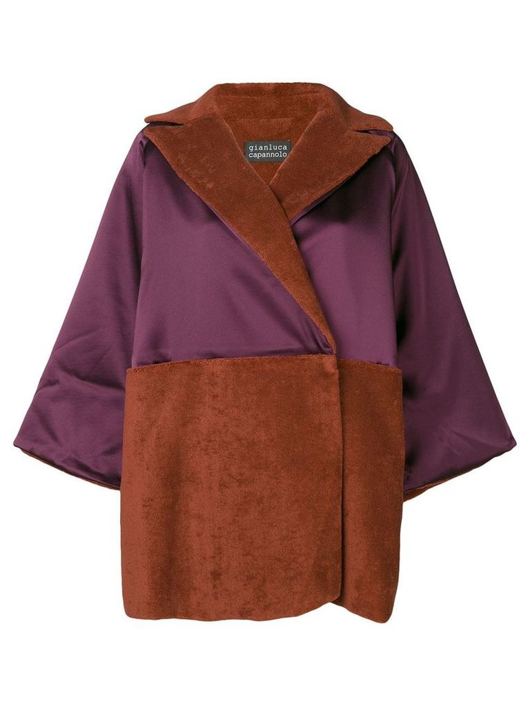 Gianluca Capannolo oversized wrap style coat - Red