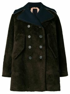 Nº21 shearling double breasted coat - Brown
