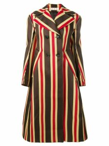 Marni striped coat - Brown