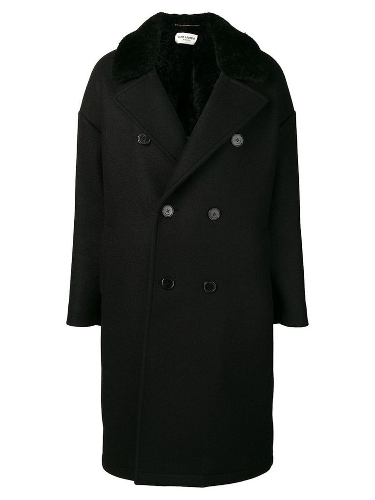 Saint Laurent double breasted coat - Black