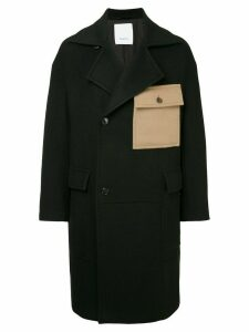 Ports V oversized coat - Black