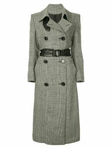 Petar Petrov double-breasted checked coat - Black