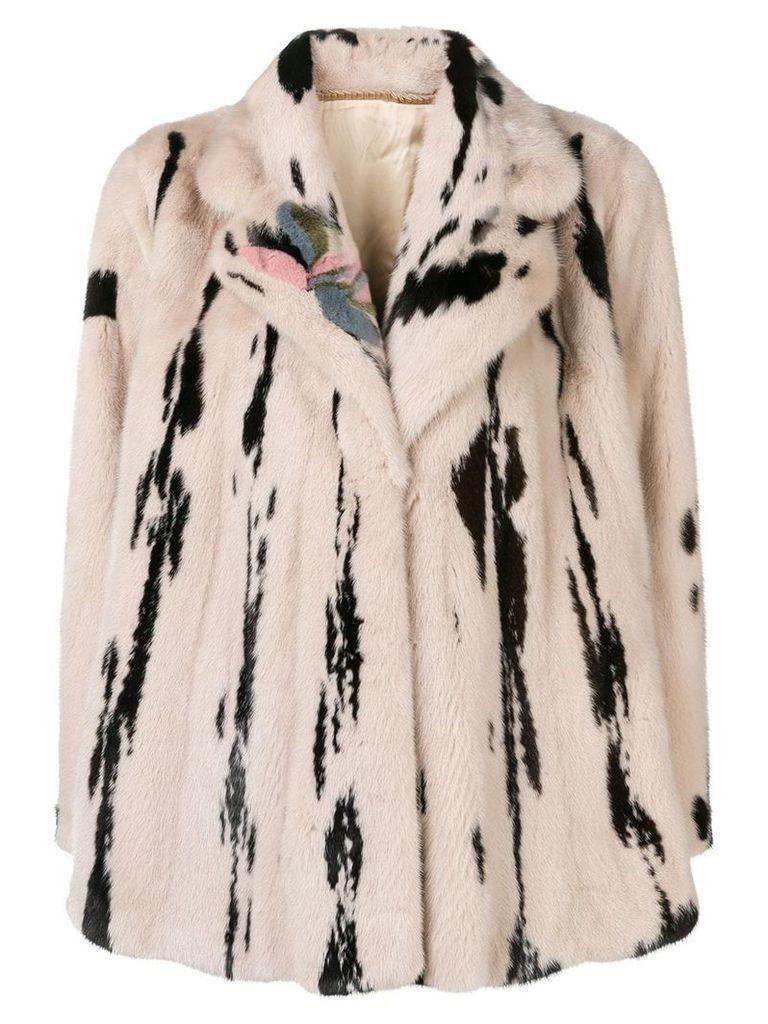 Liska printed coat - Neutrals