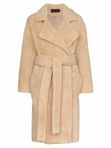 Michael Lo Sordo Fili faux fur coat - Brown