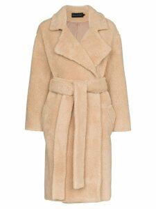Michael Lo Sordo Fili faux fur coat - Brown