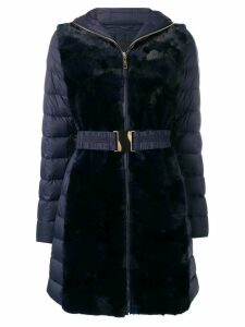 Liska mink fur hooded coat - Blue