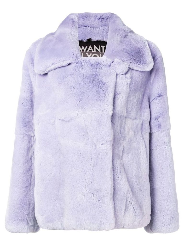 Each X Other cropped peacoat - Pink
