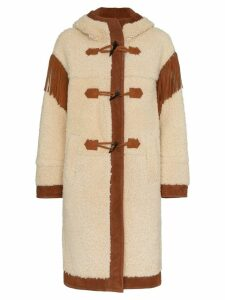 Philosophy Di Lorenzo Serafini Shoulder fringe shearling coat -