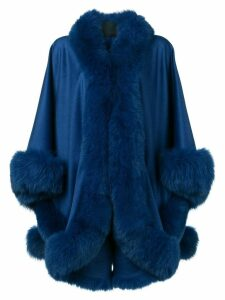 Liska oversized cape coat - Blue