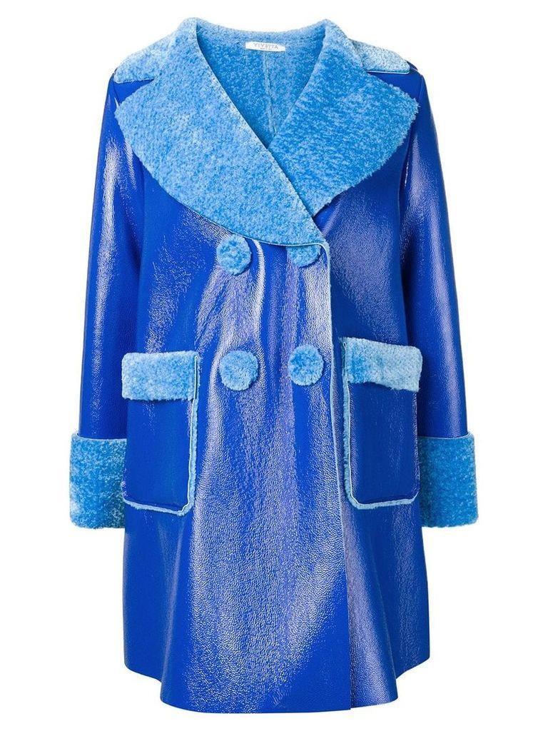 Vivetta oversized buttoned coat - Blue