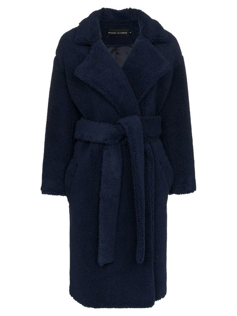 Michael Lo Sordo fili faux fur belted coat - Blue