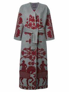 Yuliya Magdych Cavalier wrap coat - Grey