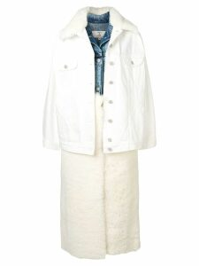 Natasha Zinko layered denim jacket gilet coat - White