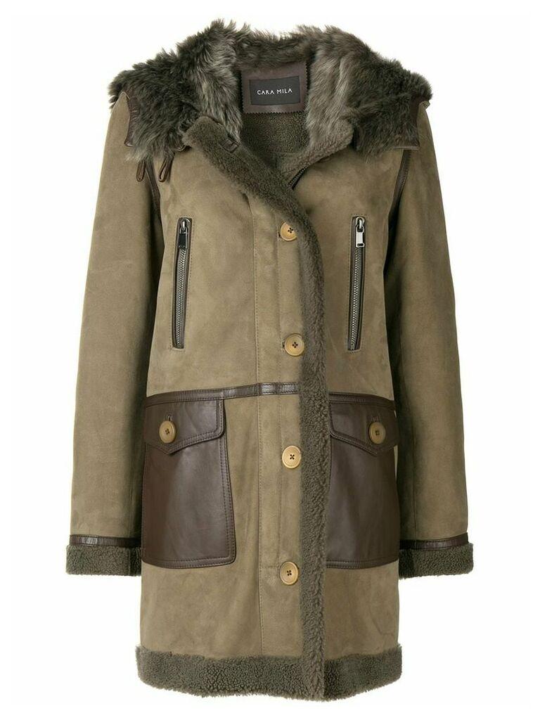 Cara Mila Kiera shearling coat - Grey