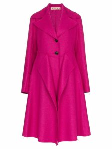 Marni single-breasted layered coat - Pink
