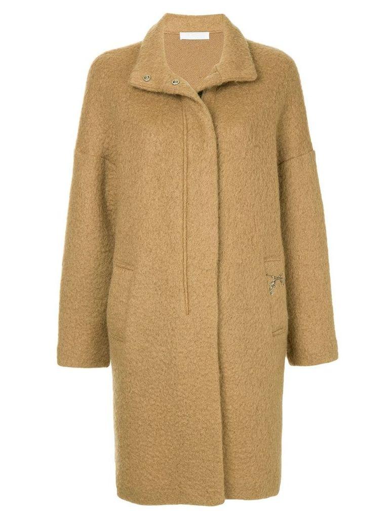 Roarguns band collar jacket - Brown