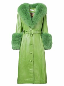 Saks Potts long belted coat - Green